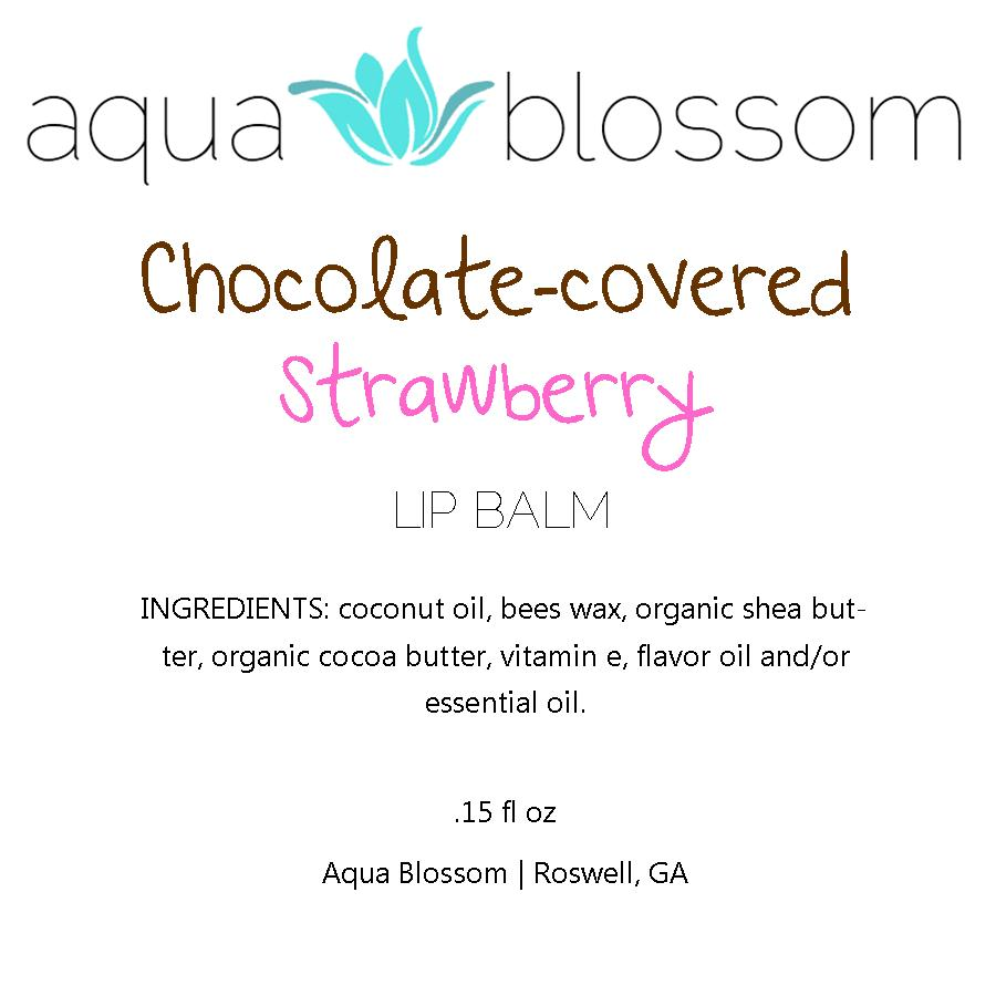 Chocolate covered strawberry, Valentine lip balm, all natural